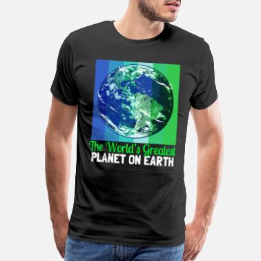 Sustain Earth Day Climate Change Recycling Ecology Planet - Men's Premium T-Shirt