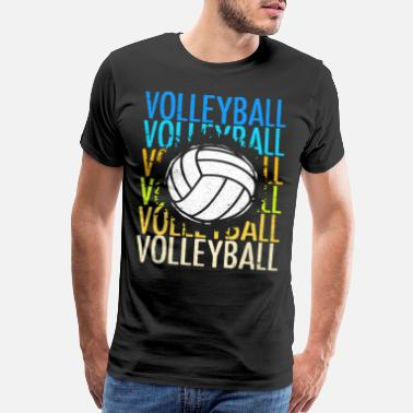 Vintage Volleyball - Men's Premium T-Shirt
