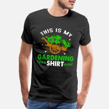 Meadows Garden Gardening Gardener Florist Flower Plants - Men's Premium T-Shirt