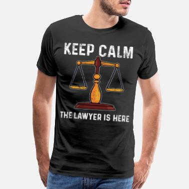 Law Lawyer Weighing Scale - Men's Premium T-Shirt