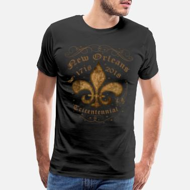 New Orleans New Orleans Tricentennial Decorative Vintage Gold - Men's Premium T-Shirt