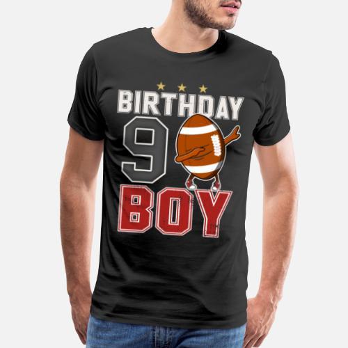 9 Year Old Dabbing Football Player 9th BDay Mens Premium T Shirt