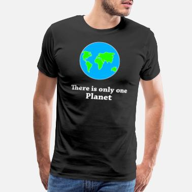 Recycle There Is Only One Planet - Men's Premium T-Shirt