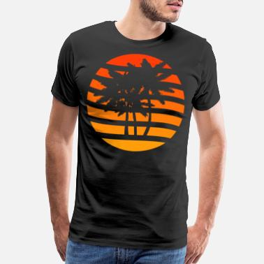 Palm Trees Palm trees grunge sunset - Men's Premium T-Shirt