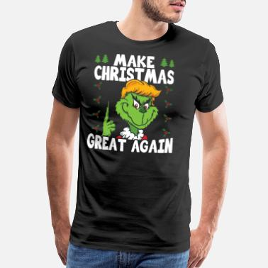 The Grinch Christmas Xmas Grinch Donald Trump Gift & Present - Men's Premium T-Shirt
