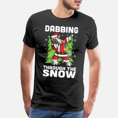 Chinese Crested Christmas Chinese Crested Dabbing Christmas - Men's Premium T-Shirt