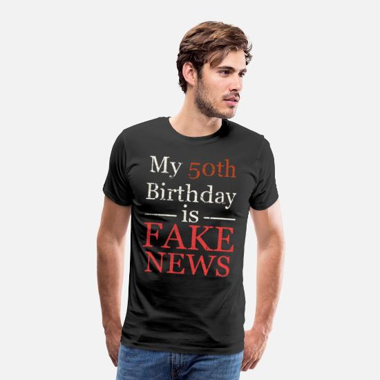 Birthday T-Shirts - 50th Birthday - Men's Premium T-Shirt black
