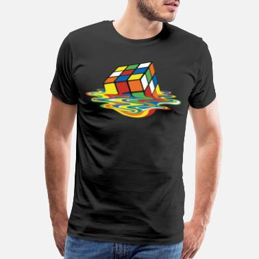 Colorful meltingcube - Men's Premium T-Shirt