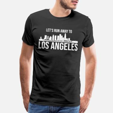 Bachelors Party Let's run away to Los Angeles gift trip - Men's Premium T-Shirt