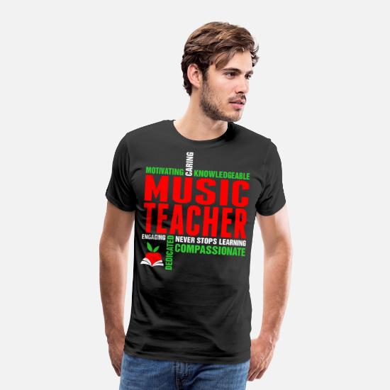 Birthday T-Shirts - Motivating Caring Knowledgeable Music Teacher Tshi - Men's Premium T-Shirt black