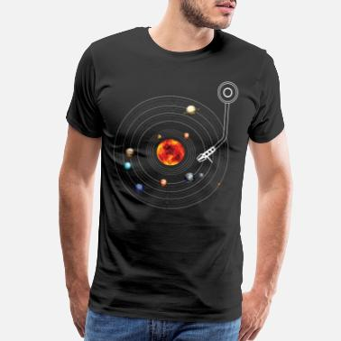 Turntable Turntable Solar System Vinyl Planets Moons - Men's Premium T-Shirt