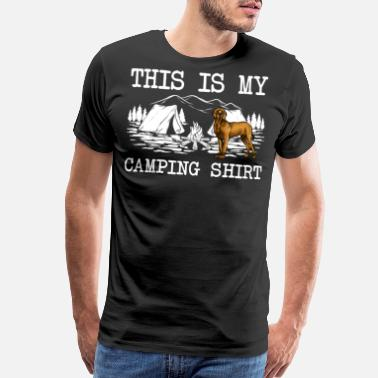 Great Danes Campfire Brown Great Dane Dog This Is My Camping - Men's Premium T-Shirt