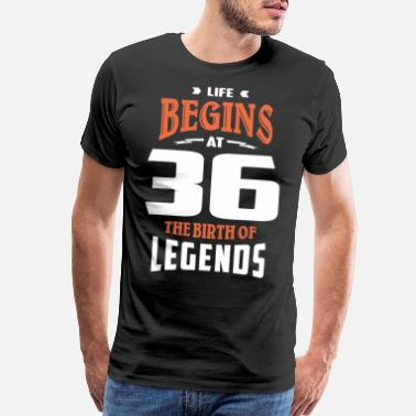 Life Begins At 36 - Men's Premium T-Shirt