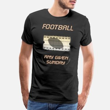 New England Sports Football any given Sunday shadow Field Ticket yard - Men's Premium T-Shirt