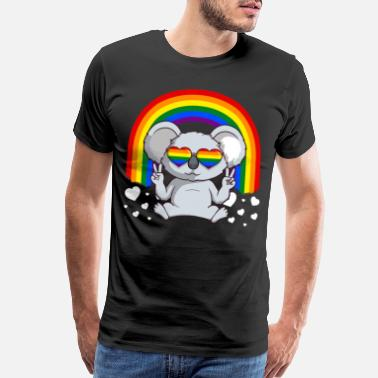 Pop Culture LGBTQ Gay Pride Rainbow Koala Bear - Men's Premium T-Shirt