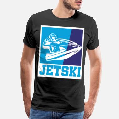 Girl Skiing Jet ski retro gift - Men's Premium T-Shirt