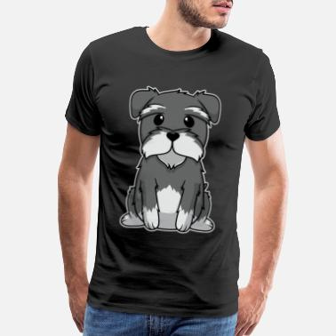Forever Yours Animal Child Puppy Miniature Schnauzer Dog Gift - Men's Premium T-Shirt