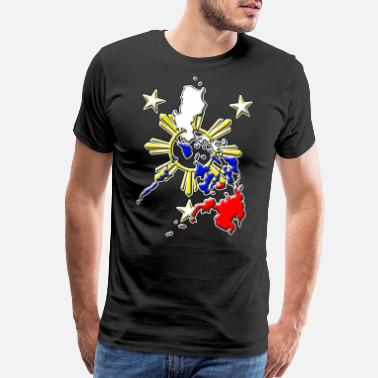 Philippine Philippines flag map - Men's Premium T-Shirt