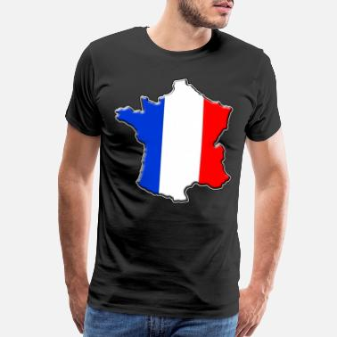 Flag Bear France France flag map - Men's Premium T-Shirt