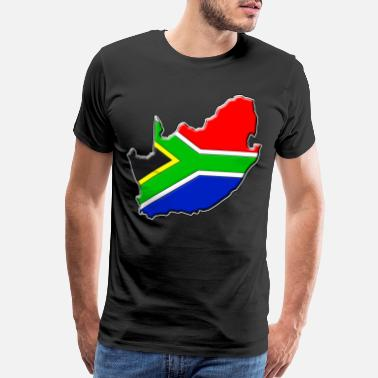 South South Africa Flag Map - Men's Premium T-Shirt