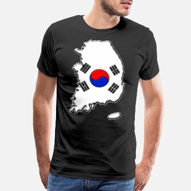 South Korea Flag South Korea Flag Map - Men's Premium T-Shirt