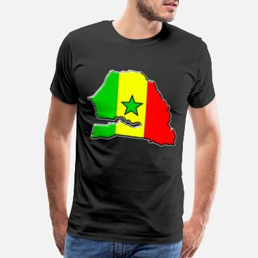 Senegal Senegal flag map - Men's Premium T-Shirt