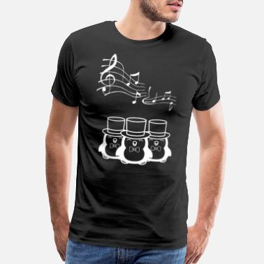 I Love To Sing Singing Penguin Choir with three penguins - Men's Premium T-Shirt