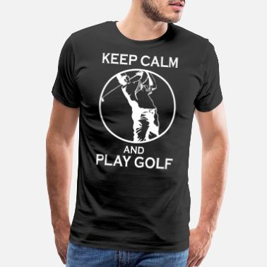 Golf Heartbeat Keep Calm and Play Golf - Men's Premium T-Shirt