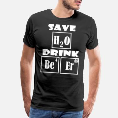 Woodpecker Save Water Drink Beer - Drink more beer - Men's Premium T-Shirt
