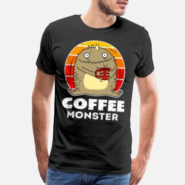 Bean Monster Coffee Monster - Men's Premium T-Shirt