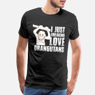 Orange Monkey I love Orangutans - Men's Premium T-Shirt