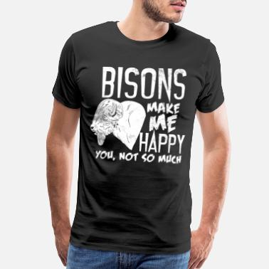 Bison Bisons Happiness - Men's Premium T-Shirt