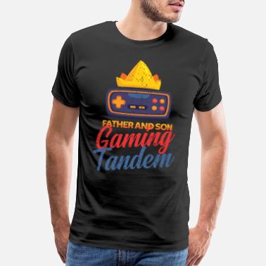 Gamer Daddy Father and son gamer - Men's Premium T-Shirt