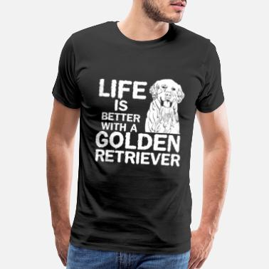 Shelter German Shepherd Golden Retriever life - Men's Premium T-Shirt