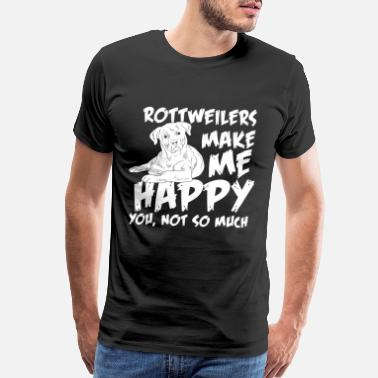 Cattle Dog rottweilers dog happiness - Men's Premium T-Shirt