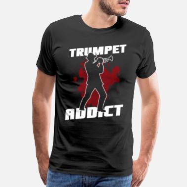 Jazz Musician Trumpet music addict - Men's Premium T-Shirt