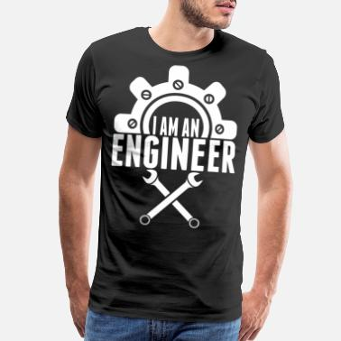 I Was Born Awesome I Am An Engineer Tshirt - Men's Premium T-Shirt