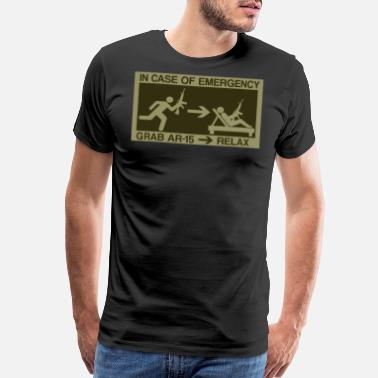 Ar15 Rifle Emergency Prepper Gift Survivalist SHTF AR15 Gift - Men's Premium T-Shirt