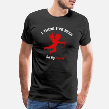 I Love Arrow I think I´ve been hit by cupid - Men's Premium T-Shirt