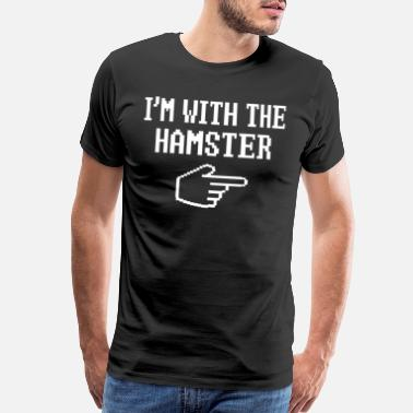 Cheap Trick I'm With The Hamster Matching Halloween Costume - Men's Premium T-Shirt