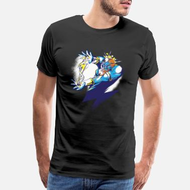 Deity Zeus god father cartoon illustration - Men's Premium T-Shirt