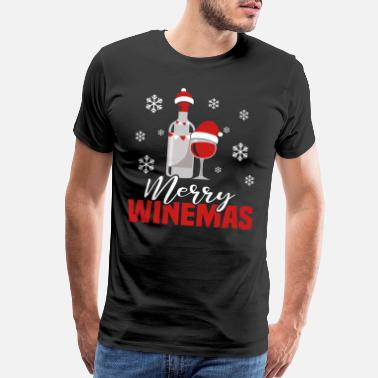Sorority Merry Winemas Weihnachten Wein Trinker - Men's Premium T-Shirt
