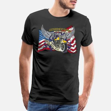 Motorcycle-gang AMERICAN PRIDE MOTORCYCLE SERVICE & REPAIR - Men's Premium T-Shirt