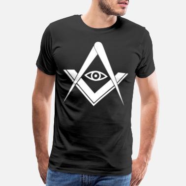 099bd794 Freemason Masonic Freemasonry Architecture symbol Freemasons - Men's  Premium T-Shirt