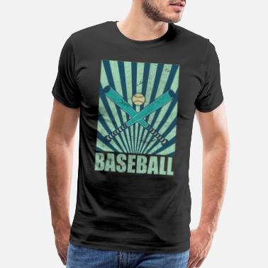 Baseball Mom Catcher Batter Base Gift Baseball - Men's Premium T-Shirt