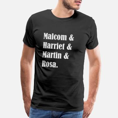 Bus Malcom Harriet Martin Rosa anti racsim Afro gift - Men's Premium T-Shirt