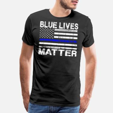 Blue Blue Lives Matter - Men's Premium T-Shirt