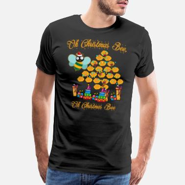 Tree Honey Christmas tree fir tree gift idea bee - Men's Premium T-Shirt