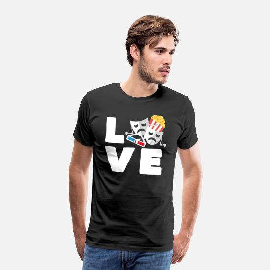 Play T-Shirts - I love theater - Men's Premium T-Shirt black
