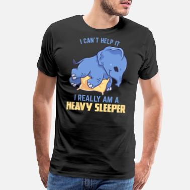 Thickness Elephant large sleeping tired gift - Men's Premium T-Shirt